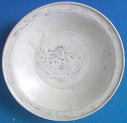 Fish Plate from Shipwreck - Underglaze Black Chinese Ceramics