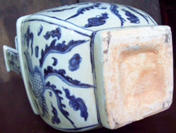 Temple Vase with Phoenix - Chinese Blue and White Porcelain