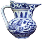 Covered Ewer with Phoenix - Blue and White Porcelain