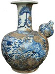 Double-Gourd Kendi-Style Ewer - Blue and White Porcelain