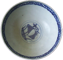 Large Bowl with Double Ducks - Blue and White Porcelain
