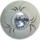 Bowl with Floral Medallion - Blue and White Porcelain