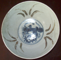 Bowl with Floral Medallion - Chinese Blue and White Porcelain