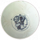 Bowl with Animal Figure - Blue and White Porcelain