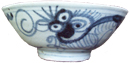 Swatow Bowl with Floral Design - Blue and White Porcelain