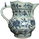 Chrysanthemum Ewer and Cover - Blue and White Porcelain