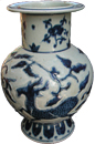 Vase with Qilin - Blue and White Porcelain