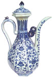 Ewer with Floral Scroll Design  - Blue and White Porcelain