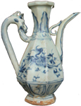 Swatow Ewer with Phoenixes - Blue and White Porcelain