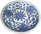 Tradeware Dish from Shipwreck - Blue and White Porcelain
