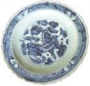 Plate with Floral Design - Blue and White Porcelain