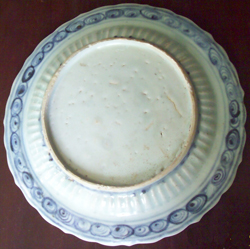 Swatow Plate with Floral Design - Chinese Blue and White Porcelain