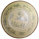 Tradeware Plate with Bird - Blue and White Porcelain