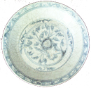Swatow Plate with Floral Design - Blue and White Porcelain