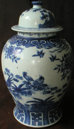 Covered Meiping with Birds - Chinese Blue and White Porcelain