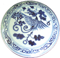 Covered Container with Phoenix - Blue and White Porcelain