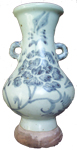 Swatow Vase with Flowers - Blue and White Porcelain