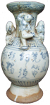 Swatow Vase with Human Figures - Blue and White Porcelain