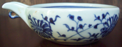 Spouterd Bowl with Flowers - Chinese Blue and White Porcelain