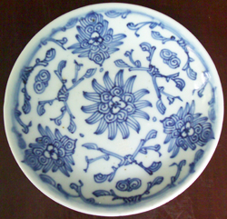 Tradeware Dish from Shipwreck - Chinese Blue and White Porcelain
