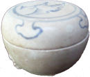 Covered Container with Bird - Blue and White Porcelain