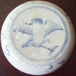 Covered Container witth Bird - Chinese Blue and White Porcelain