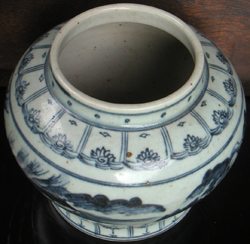 Vase with Rural Scene - Chinese Blue and White Porcelain