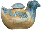 Double-Duck Water Vessel - Blue and White Porcelain