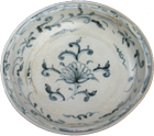 Plate with Lotus Blossom - Blue and White Porcelain