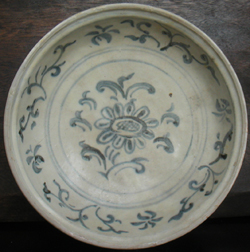 Plate with Blossom - Chinese Blue and White Porcelain