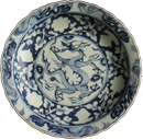 Large Dragon Plate - Blue and White Porcelain