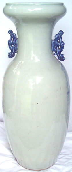 Large Temple Vase with Mountain Scene - Chinese Blue and White Porcelain