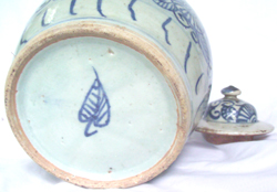 Covered Jar with Floral Design - Chinese Blue and White Porcelain