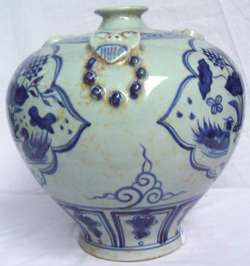 Meiping Vase with Ducks - Chinese Blue and White Porcelain