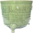 Large Tripod Incense Burner - Chinese Celadon Ceramics