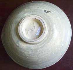 Shipwreck Bowl with Floral Design - Chinese Celadon Stoneware Ceramics