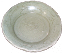 Plate with Barbed Rim - Chinese Celadon Ceramics