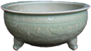 Large Tripod Censer Bowl - Chinese Celadon Ceramics