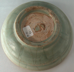 Green Dish with Incised Lines - Chinese Celadon Stoneware Ceramics