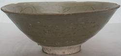 Celadon Bowl with Floral Scroll - Chinese Celadon Stoneware Ceramics
