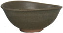 Elliptical Celadon Bowl - Chinese Celadon Ceramics