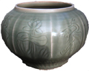 Guan With Incised Design - Chinese Celadon Ceramics