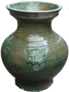 Vase with Animal Masks - Chinese Celadon Ceramics