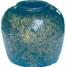 Jar with Circular Pressed Design - Chinese Earthenware Ceramics