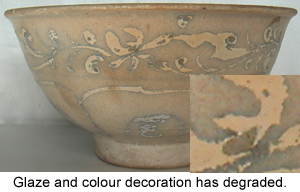 Glaze Deterioration on an ancient Chinese Porcelain from shipwreck