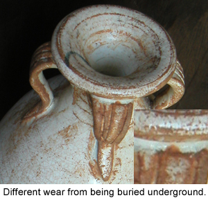 Glaze Deterioration on an ancient Chinese Qingbai Porcelain