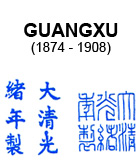 Guangxu Mark on Qing Dynasty Chinese Blue and White Porcelain