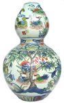 Double Gourd Vase - Qing Dynasty Chinese Porcelain