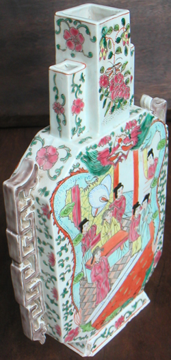 Colourful Rectangular Flask - Qing Dynasty Chinese Porcelain