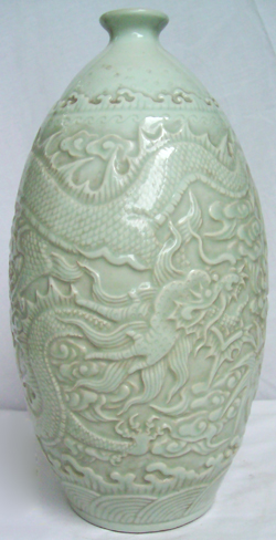 Meiping Vase with Incised Dragon - Chinese Porcelain and Stoneware